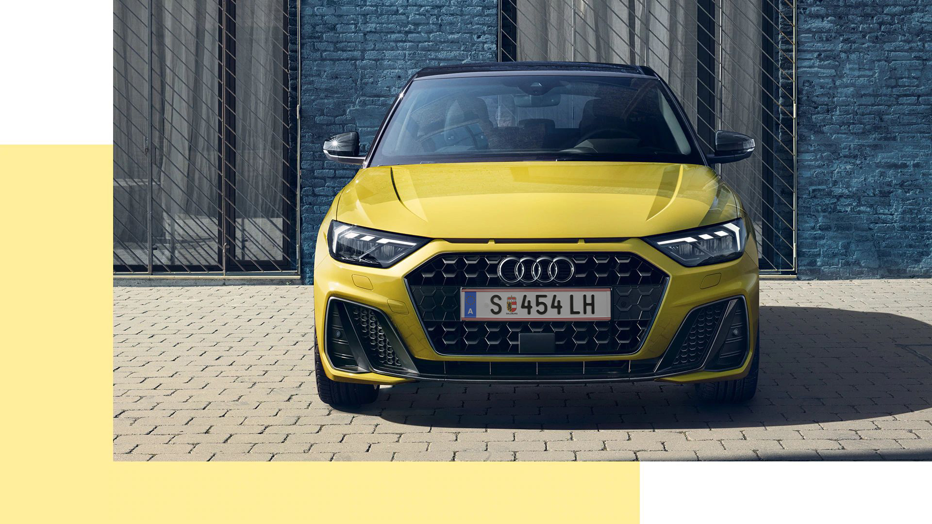 Audi A1 Sportback Frontansicht gelb